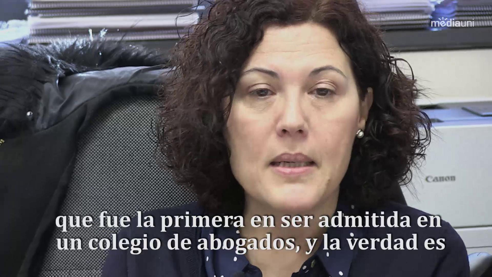 La professora de Dret i Història del Dret, Pilar Hernando parla sobre la trajectòria d'Ascensión Chirivella