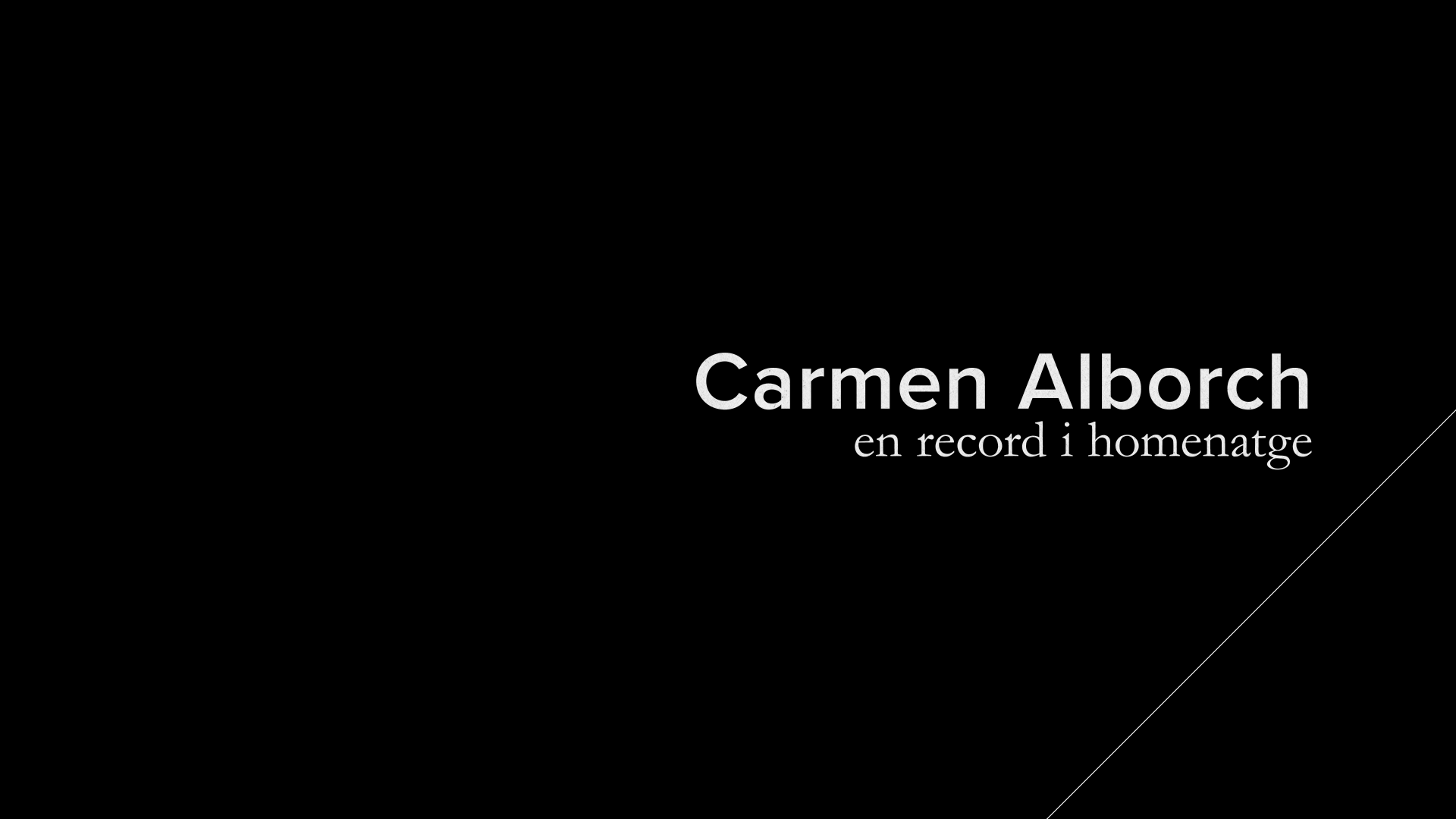 Carmen Alborch, en record i homentatge