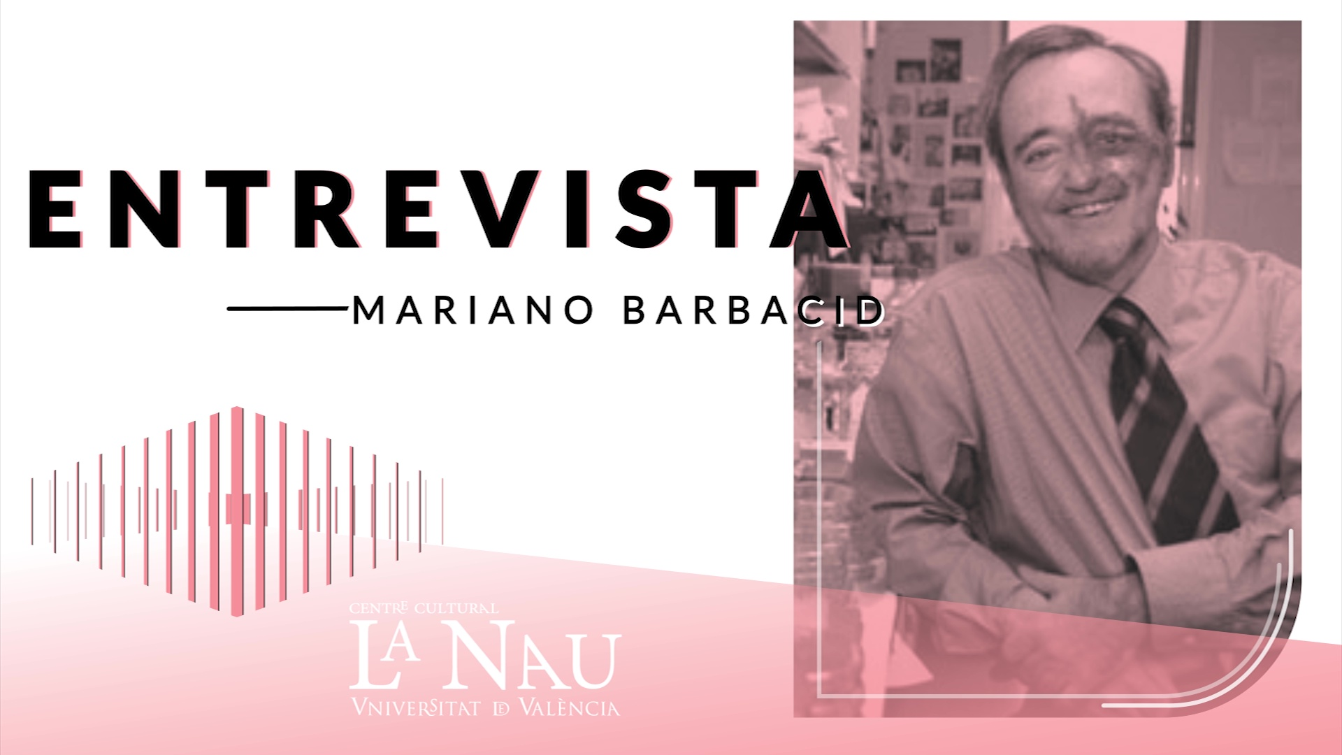 Image of the cover of the video;Entrevista a La Nau. Mariano Barbacid.